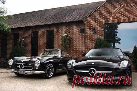 Mercedes-Benz 300SL & Mercedes-Benz SLS AMG