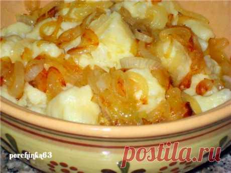 Рецепт полтавских галушек с куриной подливой