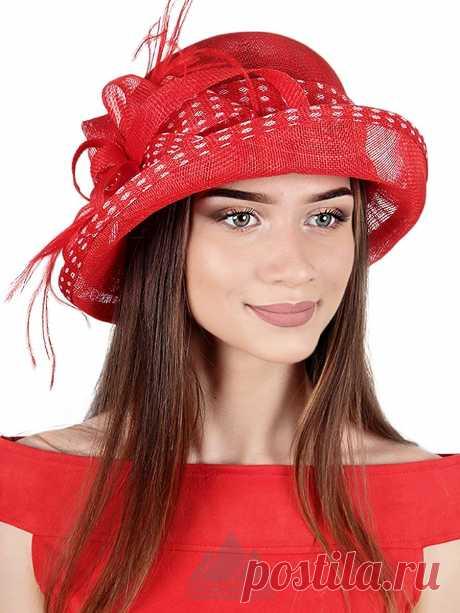 Шляпа Глафира - Женские шапки - Из соломки купить по цене 3390 р. с доставкой в Интернет магазине Пильников