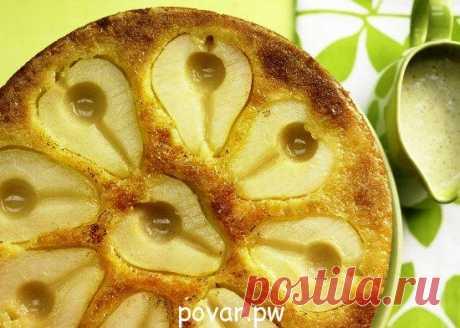 Бисквитный пирог с грушами | Мир вкуса