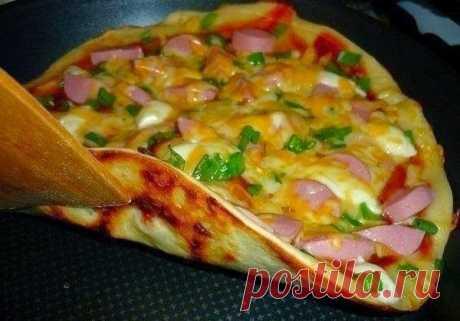 Моя копилка - Кухня: Пицца на сковороде