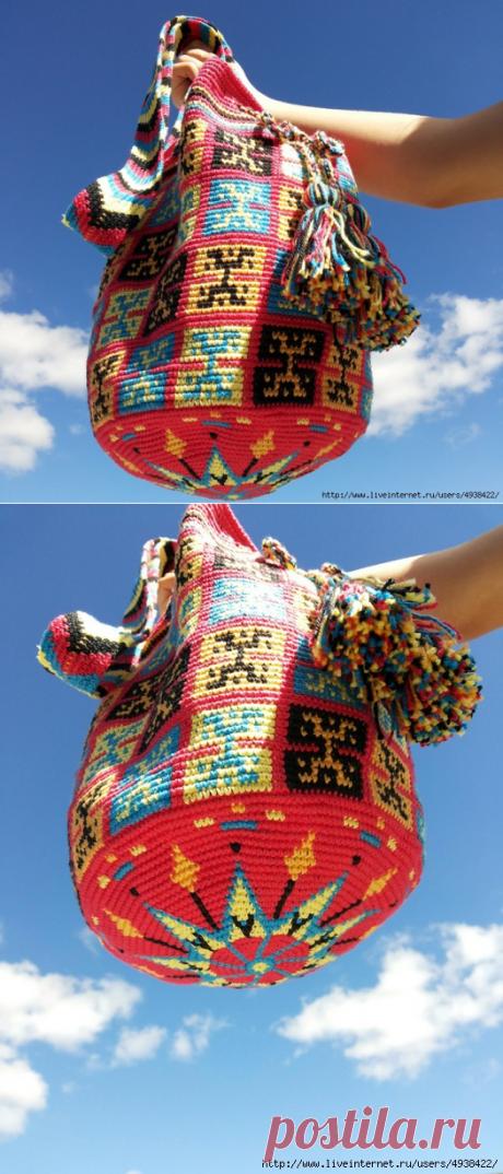 Сумки Вайуу-колумбийская mochila.Фото,схемы,видео.
