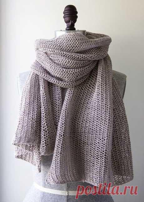 Вяжем воздушный шарфик