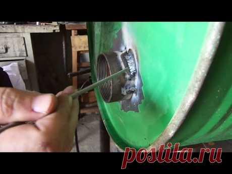 Сварка тонкого металла. Как приварить толстое к тонкому, 1мм. - YouTube