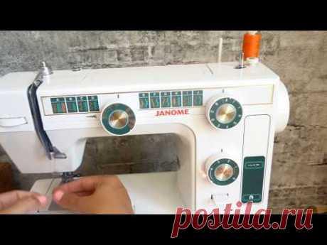 Como meter la máquina de coser janome. Sew mashine Janome