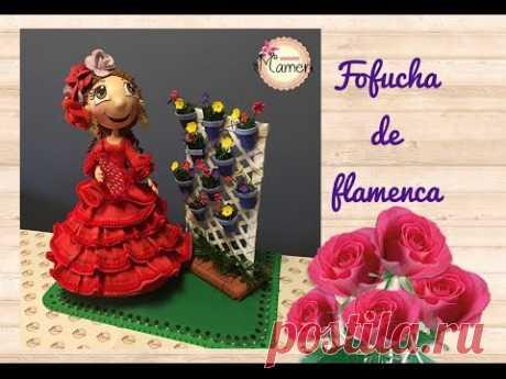 🌷2 Parte Fufucha de flamenca paso a paso hecha con gomaeva. Creaciones Mamen 💟🌷💟