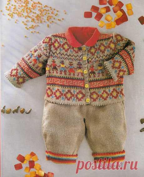 Детский костюм вязание спицами схемы