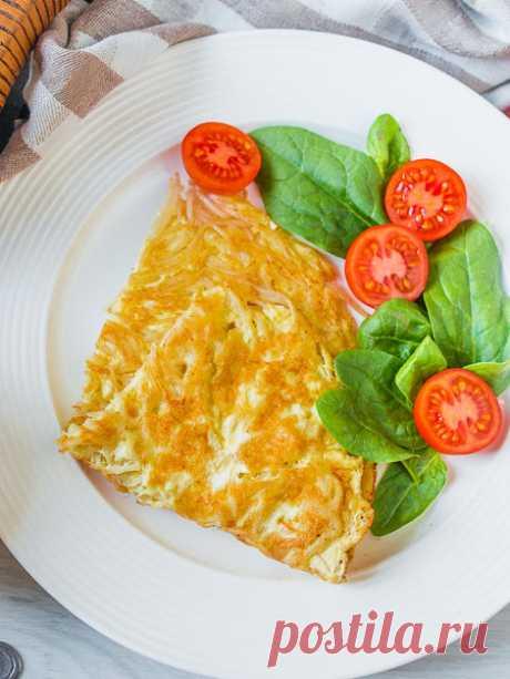 Рецепт омлета с макаронами на Вкусном Блоге