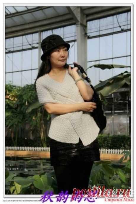 Интересный жилет. Добрый день всем! Готовимся к осени и начинаем вязать жилет, взятый с азиатского сайта https://www.bianzhirensheng.com/