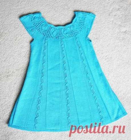 Платье на круглой кокетке спицами. Модели одежды с круглой кокеткой спицами  
