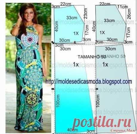 Выкройка платья - сарафана Модная одежда и дизайн интерьера своими руками