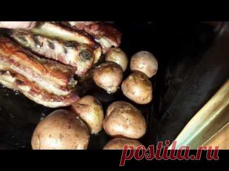 Como preparar de cerdo r±bryshki con las patatas cocido en el horno. - YouTube