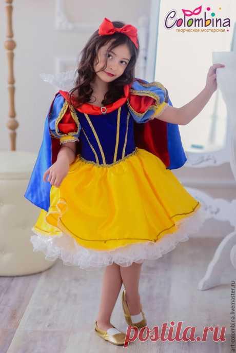 Купить Костюм Белоснежки - синий, костюм белоснежки, белоснежка, детский костюм белоснежки, карнавальные костюмы