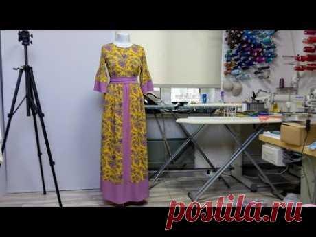 Длинное платье из шифона. Влог