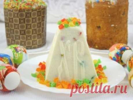 Творожная пасха ванильная с цукатами, рецепт с фото.