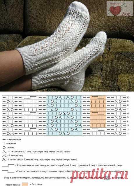 Коллекция узоров для красивых носочков. | Петелька | Яндекс Дзен