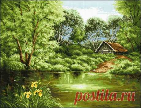Вышивка крестом красивый пейзаж. Схемы вышивки крестом природа лес Вышивка крестом красивый пейзаж. Схемы вышивки крестом природа лес