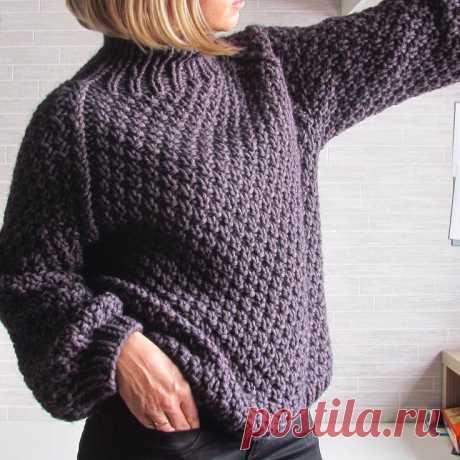 Вязаный свитер с рукавом реглан