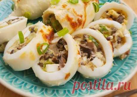 Кальмары фаршированные грибами и сыром - пошаговый рецепт с фото. Автор рецепта Mir_kulinara . - Cookpad