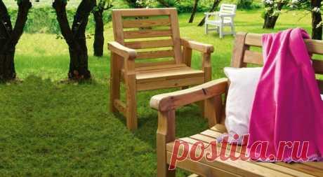 Садовая мебель #креслоЧ #скамьяЧ