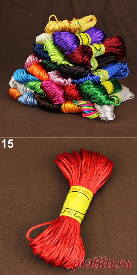 Новый 20 цветов нейлоновый шнур китайский узел макраме шнур браслет плетеный строка DIY кисточки бисер Шамбала нитки купить на AliExpress
