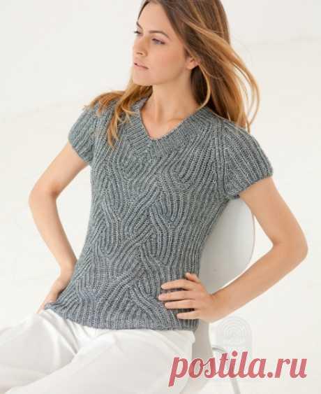 Пуловер, выполненный патентным узором: схема вязания, подробная инструкция, описание на сайте «Люди вяжут»