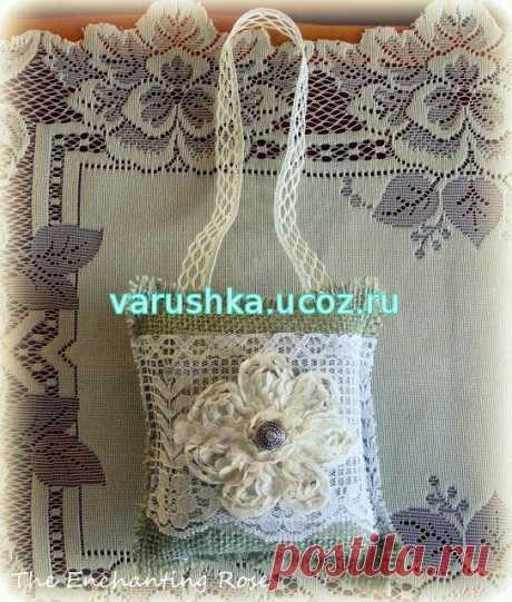 Сочетание ткани и вязанного кружева - Схемы вязания - Крючок и спицы