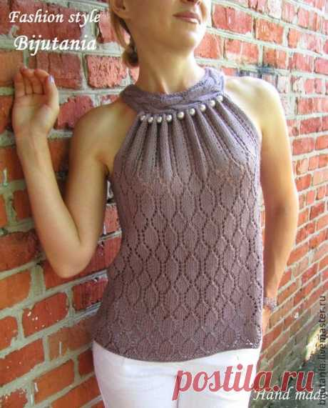 """The most \""""top\"""" knitted tops for the summer. 35 ideas   knitter's Notes   Yandex Zen"""