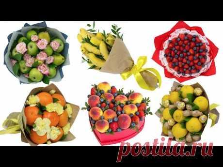 6 идей: букет из фруктов для девушки, женщины на 8 марта своими руками