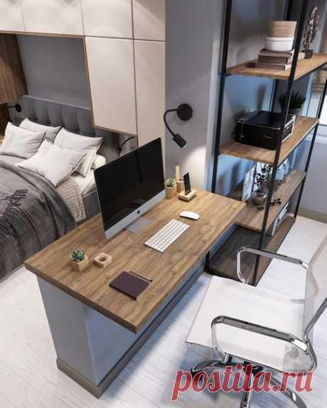 Спальная комната 15 кв.м, объединённая с утеплённой лоджией, г. Москва Современный стиль Автор проекта — Камаева Вера