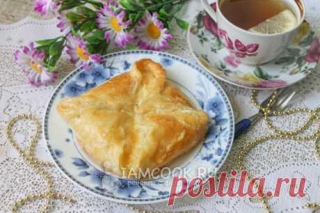 Хачапури с сыром (из слоеного теста) — рецепт с фото пошагово + отзывы