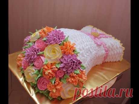 Торт Букет Сборка И Украшение