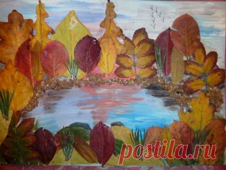 Осенние поделки из листьев своими руками (все новинки для детей детского сада и школы)