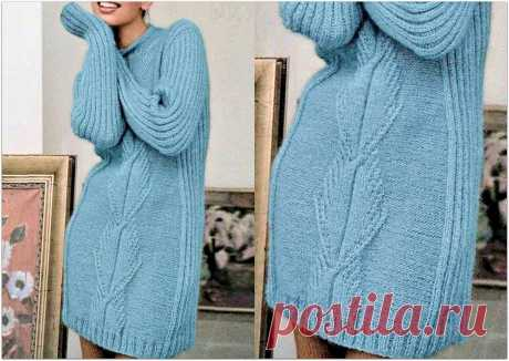 Вязаные свитеры-платья, которые согреют в холодную погоду | Paradosik_Handmade | Яндекс Дзен