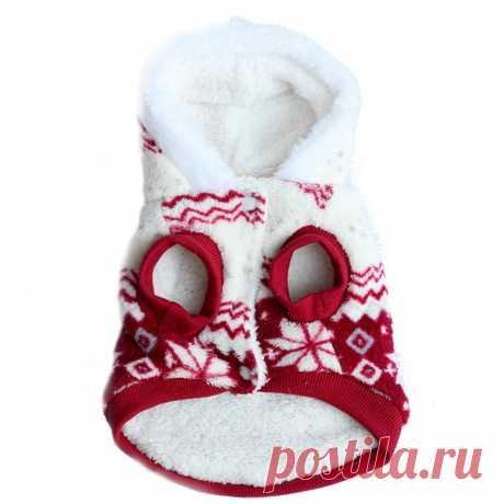 Одежда для Товары для собак Домашние животные собака зимнее пальто из флиса Снежинка с принтом Собака Щенок Одежда appral куртка XS размеры S M L XL купить на AliExpress