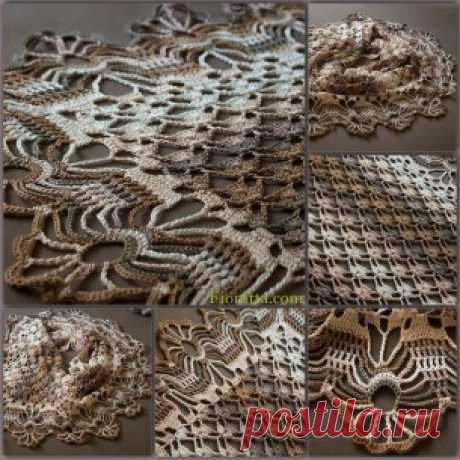 Crocheted silk blend shawl | | Fionitta crochet