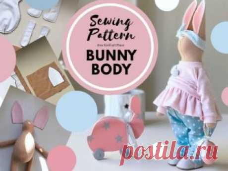Sewing Pattern Bunny Body, Bunny Doll Tutorial, Bunny DIY Pattern, Bunny Rag Doll, PDF Doll Body, Interior Rag Doll Handmade by Yulia K Bunny Body Sewing Pattern for Interior Doll by master Yula K.  Pattern uncludes Bunny Body Doll sewing tutorial.  Pattern is for 30 cm (11.9 inch) bunny by master Yulia K.  Pattern is made in PDF format: 4 pages, 9 photos + sewing pattern A4 size. Languages: English  Welcome to check all our sewing