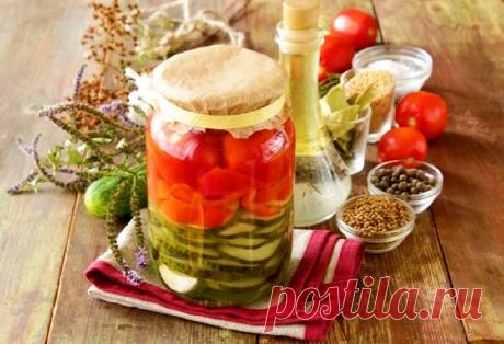 Как приготовить пошагово фото рецепт - Ассорти из огурцов, перца, томатов на зиму, в аэрогриле.