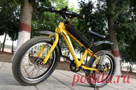 Установка на велосипед электродвигателя от раздвижных дверей