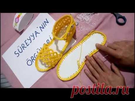#sandalet #terlik  TIĞ İŞİ YAZLIK SANDALET YAPIMI
