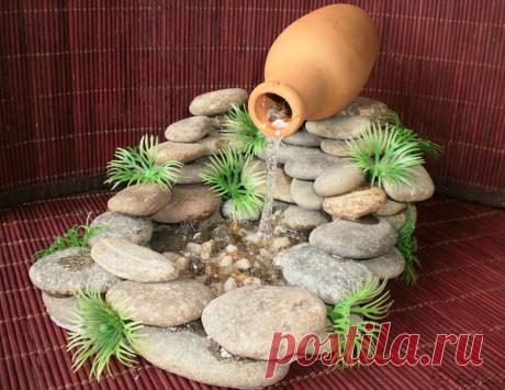 Комнатные водопады из природных материалов