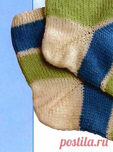 Как связать пятку носка спицами | ВЯЗАНИЕ ШАПОК: женские шапки спицами и крючком, мужские и детские шапки, вязаные сумки