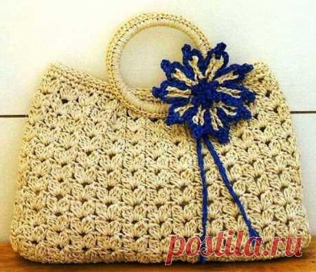 Сумки крючком — схемы и описание: вязание ажурной сумки