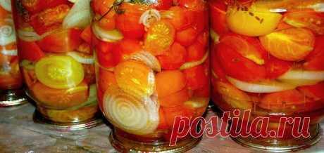 Маринованные помидоры кольцами с маслом и луком на зиму | В саду у Валентинки | Яндекс Дзен