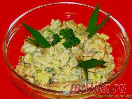 Салат капустный с мясом