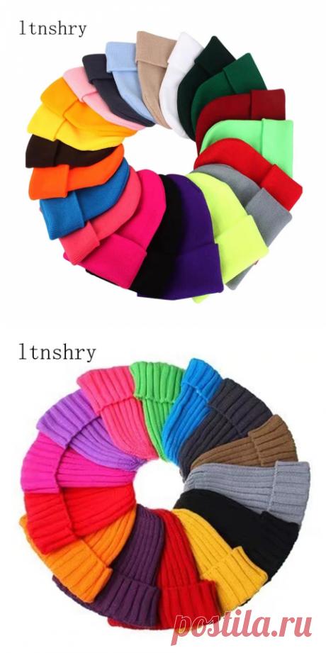 Зимние шапки для мужчин и женщин, Новые облегающие шапки, вязаная однотонная Милая шапка, осенние женские облегающие шапки, теплая шапочка, Женская Повседневная шапка |Мужская Skullies & шапочки
