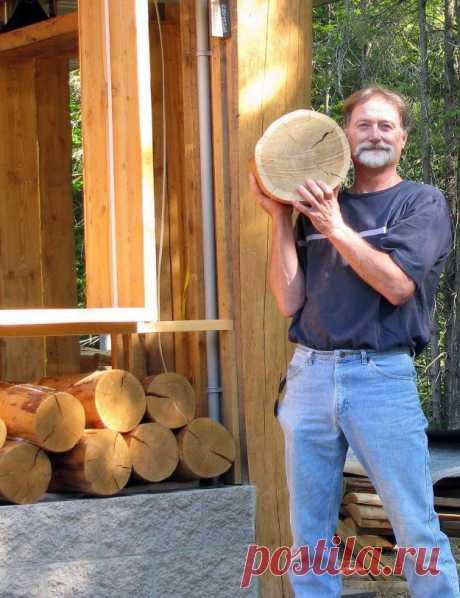 Идея напольного покрытия: спилы + клей-лак — Сделай сам, идеи для творчества - DIY Ideas