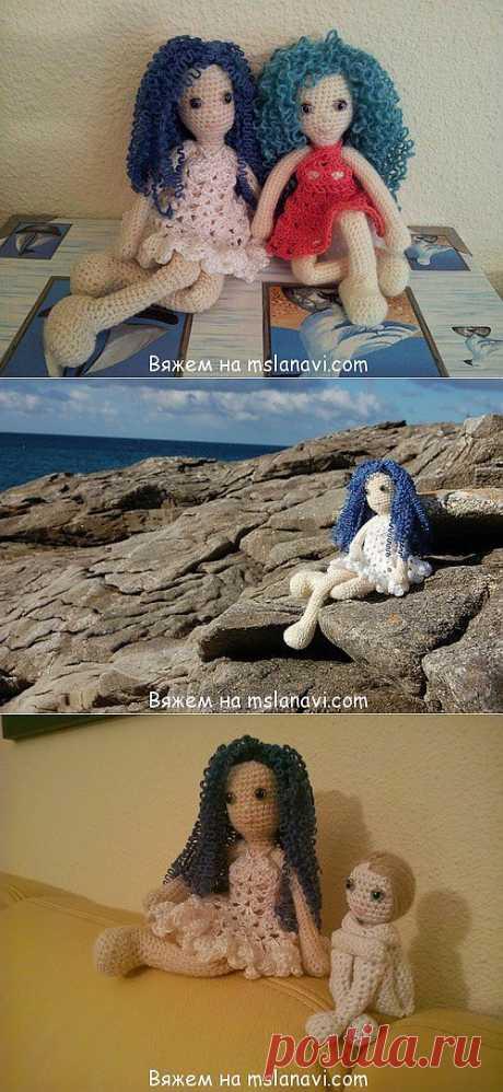 Вязаные куклы от Вики   Вяжем с Ланой. Описание и схемы.