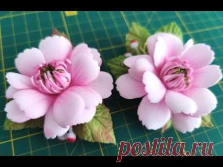 Милые Цветы Из Фоамирана 🌺 На Заколках Для Волос 🌺 БЕЗ ШАБЛОНА