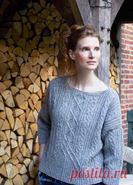 Вязаный пуловер с аранами Ivy - Вяжи.ру